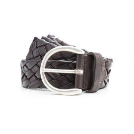 ADRIANO MENEGHETTI SIENA 40 Rugged Dark brown leather belt