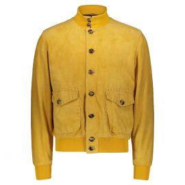 ATACAMA Cary Yellow Goatskin Suede A1 Bomber Jacket