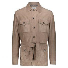 ATACAMA Robert Dove Grey Goatskin Suede Safari Jacket