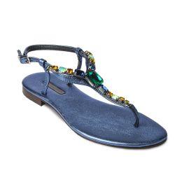AZURE with Multicolor Crystals Embellished Sandals