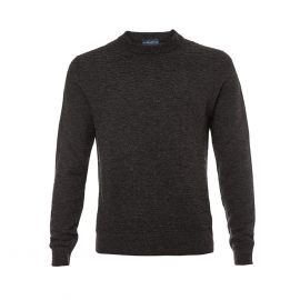 BALLANTYNE 1921 Charcoal Round-Neck Pullover