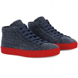 CROCO Blue Red High Top Sneakers