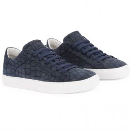 CROCO Blue White Low Top Sneakers