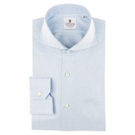 CORDONE 1956 Azure Cotton Classic Royal Shirt