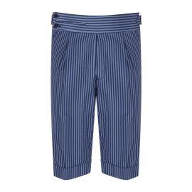 CORDONE 1956 Azure Striped Seersucker Shorts