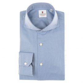CORDONE 1956 Blue Cotton Classic Royal Shirt