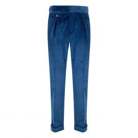 CORDONE 1956 Blue Velvet Trousers