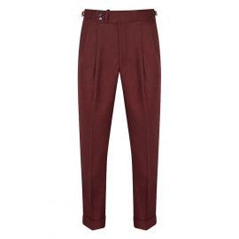 CORDONE 1956 Bordeaux Flannel Trousers