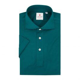 CORDONE 1956 Green Cotton Short Sleeve Polo Shirt