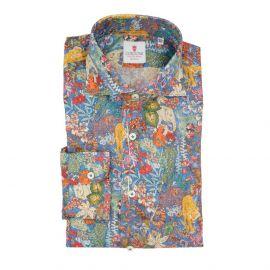 CORDONE 1956 Jungle Blue Cotton Limited Edition Shirt