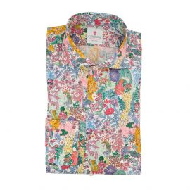 CORDONE 1956 Jungle White Cotton Limited Edition Shirt