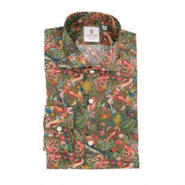 CORDONE 1956 Ocean Green Cotton Limited Edition Shirt