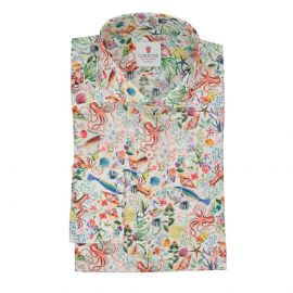 CORDONE 1956 Ocean White Cotton Limited Edition Shirt