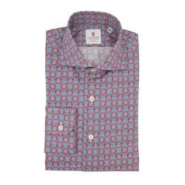CORDONE 1956 Red Kaleidoscope Cotton Limited Edition Shirt