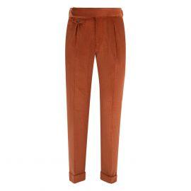 CORDONE 1956 Rust Velvet Trousers