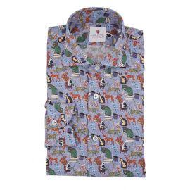 CORDONE 1956 Wonderland Azure Limited Edition Shirt