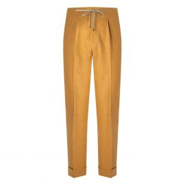 CORDONE 1956 Yellow Flannel Trousers With Laces