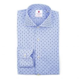 CORDONE 1956 PARIGI Stripes and Skulls Double Twisted Cotton Shirt