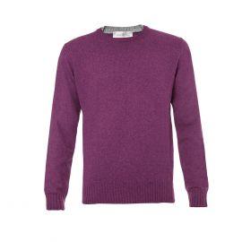 DELLA CIANA Purple Double Round-Neck Pullover
