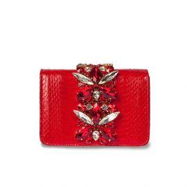 EMANUELA CARUSO CAPRI Red Leather Shoulder Bag