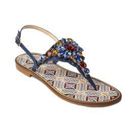 EMANUELA CARUSO MULTICOLOR Mattonella Leather Sandals