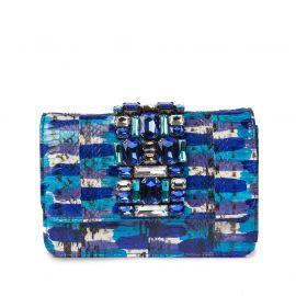 EMANUELA CARUSO ST.BATH Blue Leather Shoulder Bag