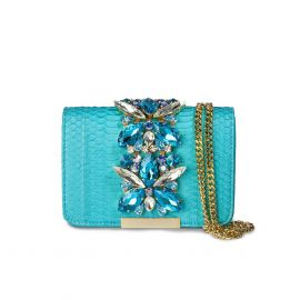 EMANUELA CARUSO CAPRI Tourquois Nabuk Shoulder Bag