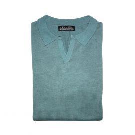 FINAEST Mint Fine Silk-Cashmere Polo