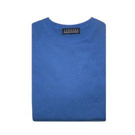 FINAEST Sky Blue Fine Silk-Cashmere Round-Neck Pullover