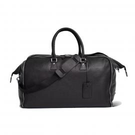 LUDOVICO MARABOTTO FLAMINGO Black Leather/Japan '800 Weekend Bag