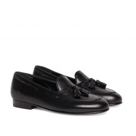 GIANLUCA GALLO BRERA Black Leather Loafers