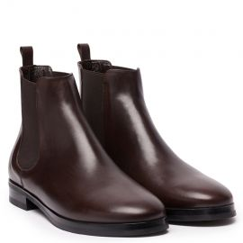 GIANLUCA GALLO Moscova Dark Brown Leather Chelsea Boots