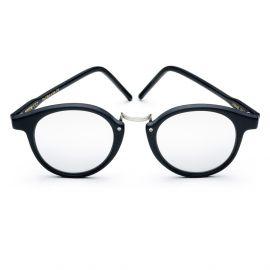 KYME SUNGLASSES Frank Matt Black Frame with Silver Mirrored Lenses