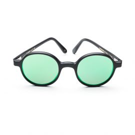 REUNION Matte Black with Green Mirrored Lenses