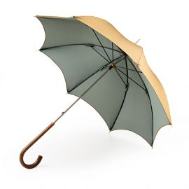 KATE Gold and Green with Malacca Handle Umbrella