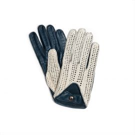 Turquoise with Cotton Crochet Leather Driving Gloves