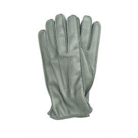 Dark Green Deerskin Gloves