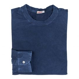 LIMITED EDITION Blue Jersey Cotton Long Sleeve T-Shirt
