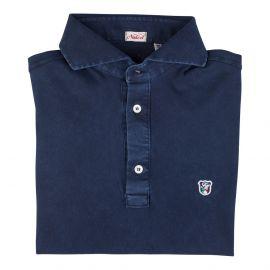 LIMITED EDITION Blue Piqué Cotton Polo Shirt