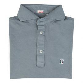 LIMITED EDITION Grey Piqué Cotton Polo Shirt