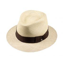 LOJA Classic Toquilla Straw Panama Hat with Brown Ribbon