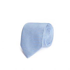 Azure and White Silk Tie