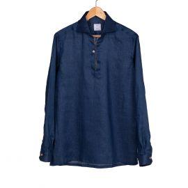 RIPA RIPA Capri Night Blue Linen Shirt