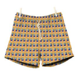 RIPA RIPA Finestre Sul Mare Yellow Printed Swim Shorts