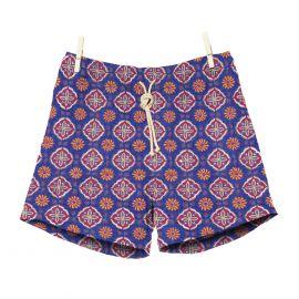 RIPA RIPA Maestrale Red and Blue Printed Swim Shorts