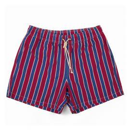 RIPA RIPA Monterosso Red and Blue Printed Swim Shorts