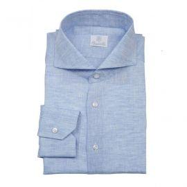 RELEVANCE OF COLOURS Azure Linen Shirt
