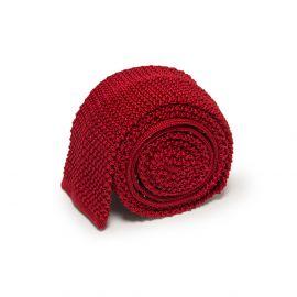 SERA' FINE SILK Imperial Red Crochet Knitted Silk Tie