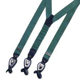 SERA' FINE SILK Braces Silk And Leather Green