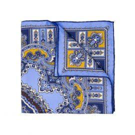 SERA' FINE SILK Coffee Barolo Silk Handkerchief